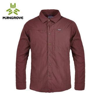 Mangrove luar ruangan pria perlindungan matahari bernapas kemeja kerah kemeja (PARK'S yang mendalam)