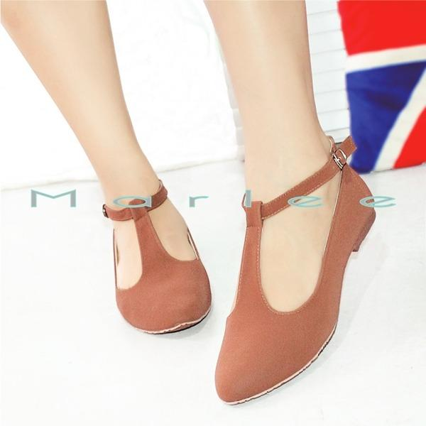 Marlee Angkle Strap Pointed toe Flat Shoes MMT-05