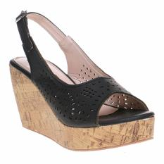 Marlee DK-05 Slingback Wedges Sandal - Hitam