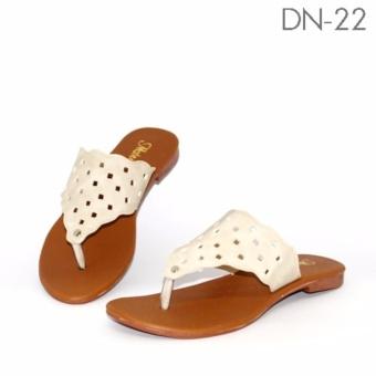 Marlee DN-22 Sandal Flat Wanita - Cream