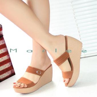Marlee Double Strap Wedges Sandal Wanita CC-14