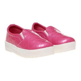 Marlee Glossy Quilted Slip On Shoes HN-102 Kids - Fanta