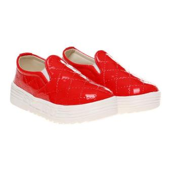 Marlee Glossy Quilted Slip On Shoes HN-102 Kids - Merah