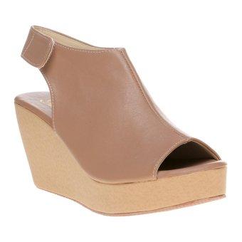 Marlee LU-03 Wedges Sandal Open Toe - Moca - 2