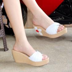 Marlee Sandal Wedges Wanita CK-22 Putih
