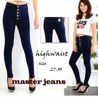 Cek Harga Baru Bntg Celana Jeans Wanita Haigh Waist Kancing Lima