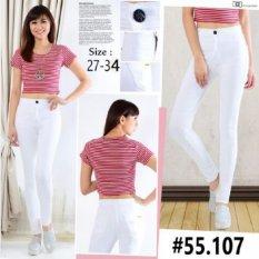 master jeans celana wanita highwaist putih size 27-34