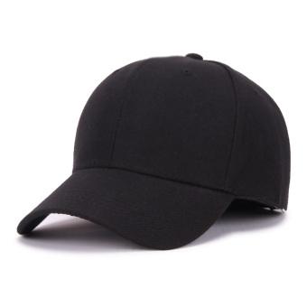 Masuknya orang Korea Fashion Style hitam murni perempuan laki-laki topi topi topi (Atap