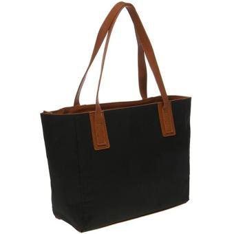 Mayonette Tas Branded Wanita Fashion Canvas Totes Shoulder High Quality Women Bags - Emma Canvas - Hitam - 2