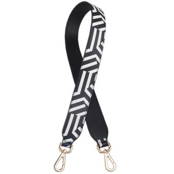 Memukul tali bahu warna tas ransel (Hitam dan putih bergaris)