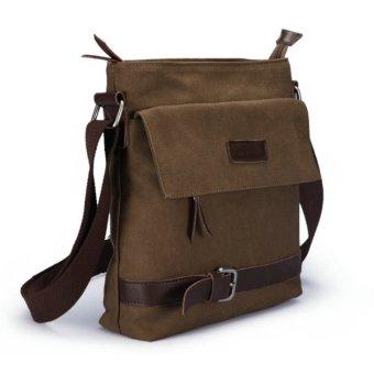 Pria Fashion Kasual Shoulder Bags Tas Kanvas Tas Serbi Kopi
