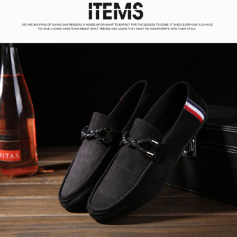 Men's Casual Suede Loafer Casual Moccasins Driving Shoes Black