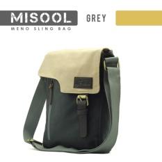Meno Tas Selempang / Messenger Bag Misool MB007 - Original - Abu Abu Tua