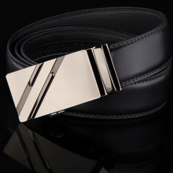 Mens Sabuk Luxury Designer Kulit Asli 100% Sapi Kulit Strap Pria Formal Korset 125 Cm