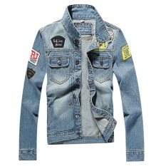 Men's Denim Jacket high quality fashion Jeans Jackets Slim fitcasual streetwear Vintage Mens jean clothing Plus