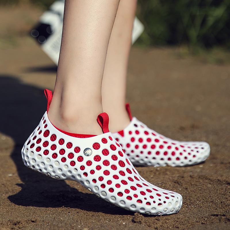 Flash Sale Menunjuk mulut dangkal sandal musim semi model sepatu (Buyun  TD-666 putih dan merah) 2ea218b3ed