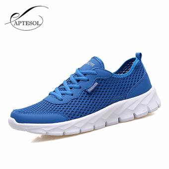Men/women Mesh Sport Shoes Running Shoes Color Blue EU 35-48 - intl