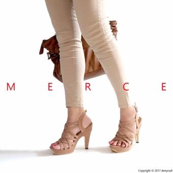 Merce - Sepatu Wanita THALIA Gladiator Heels - Coklat