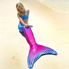 Mermaid Tail Swimmable Pantai Berselaput Dayung Monofin Tail Wanita Renang Foto Kostum Beautuful Sirip, Gaya 03-Intl