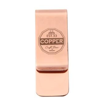 Metal Stainless Steel Money Clip Holder Folder Collar Clip(Rose Gold) - intl