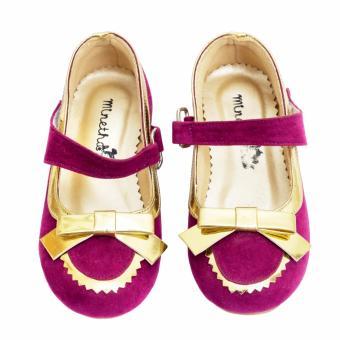 Minetha Kid Shoes Sepatu Anak Perempuan Balerina Flat Usia 1-12 tahun/Ungu/