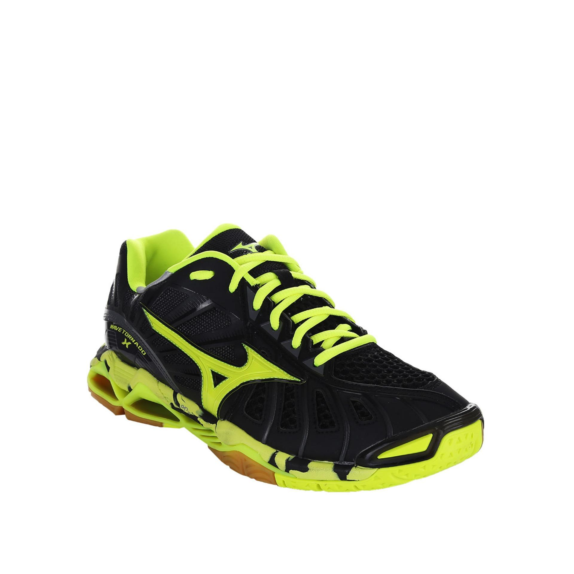 eShop Checker Mizuno Wave Tornado X Black   Safety Yellow   Dark ... c6e2fc0df5