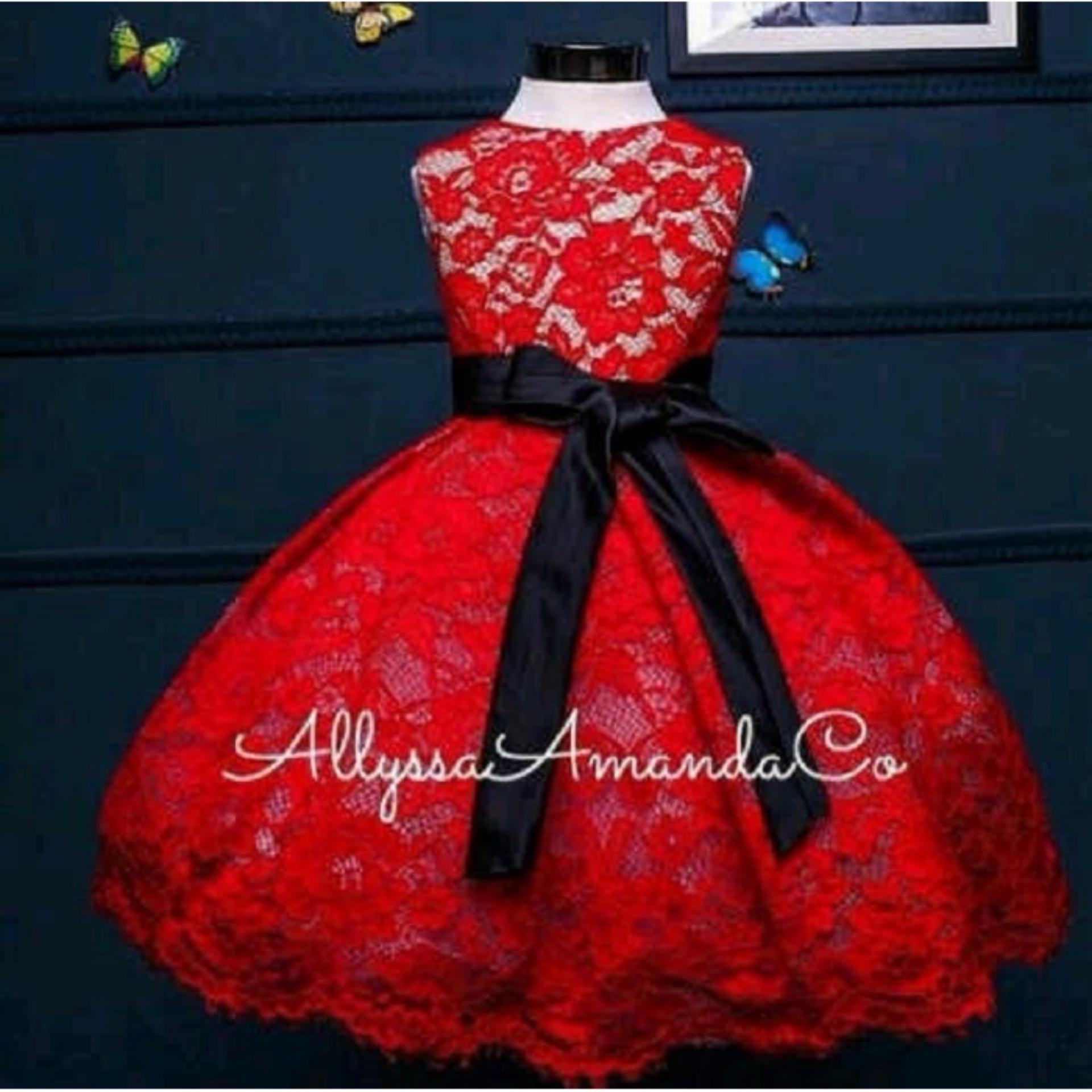 MJ Dress Anak Fanni Kids - Merah
