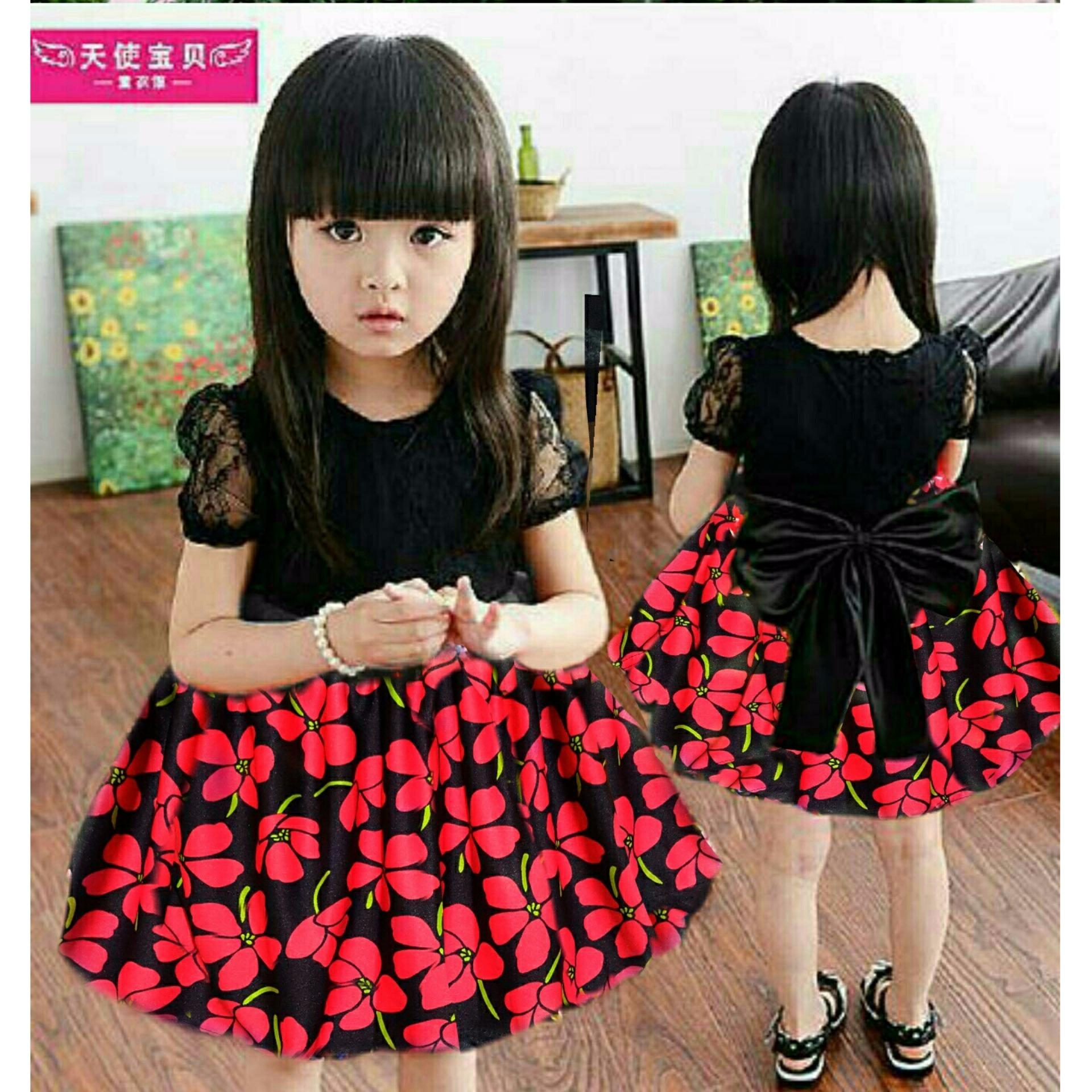 MJ Dress Anak ShanShan Flow Kids - Flower