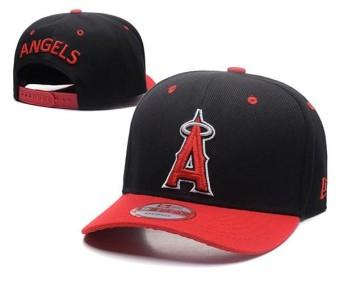 MLB Logo Topi Bisbol Pria Wanita Uniseks Bertali Belakang Topi Los Angeles  Angels dari Anaheim Olahraga f81cc485b6