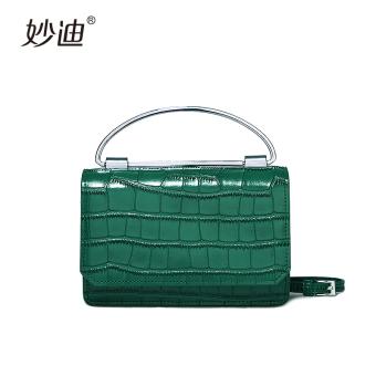 Mood pesta makan malam clutch tas baru tas wanita (Misterius hijau gelap)
