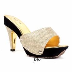 Moya Pump Shoes Toe High Heels Glitter MD02- Gold