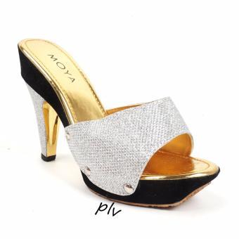 harga Moya Pump Shoes Toe High Heels Glitter MD02 - Silver Lazada.co.id