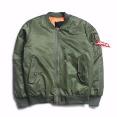 MRJ-Jaket Bomber Pria /jaket Pilot Pria /jaket Mantel Distro (HIJAU )