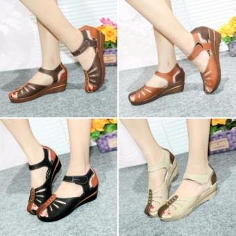 harga MS - Sepatu Sendal Wanita Cewek Murah Model Wedges Mulan 1020 Lazada.co.id