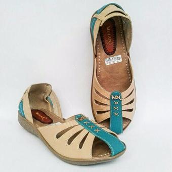 MS - Sepatu Sendal Wanita Cewek Murah Model Wedges Mulan 1055 - 4
