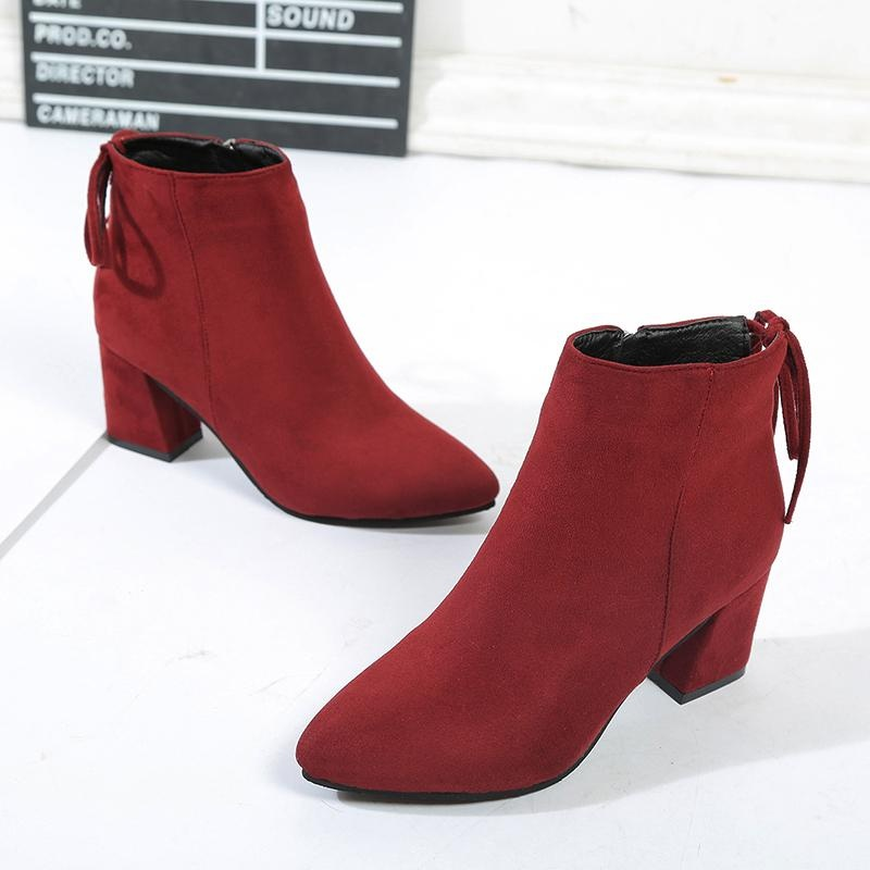Boots Pointed Toe Source · Pencarian Termurah Korean style spring New style pointed .