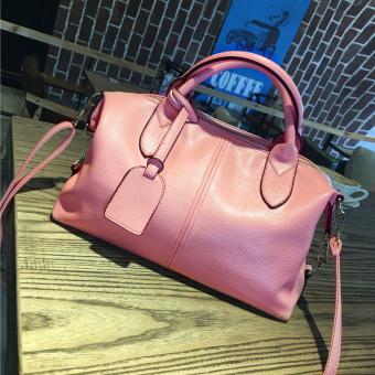 Mudah Dibawa Tas Bahu Dengan Satu Tali Tas Tas (Merah Muda Warna)