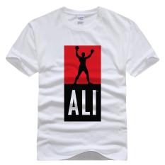 Muhammad Ali Dicetak T-shirt Katun ALI06 (Putih)-Intl