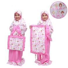 Mukena Anak Muslimah Dua Putri Pink Cantik