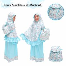 Mukena Anak Unicorm Biru (Tas Ransel)
