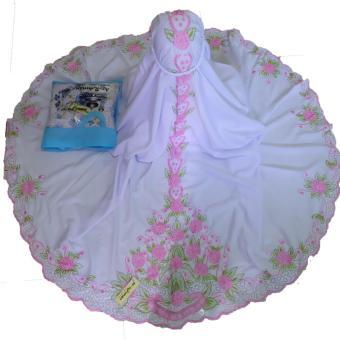 Mukena Bordir Aisah (pink)