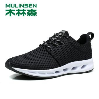 Jual MULINSEN Korea Fashion Style bernapas jala pria musim panas sepatu  sepatu pria (Yu Yue 260047 hitam  musim panas  bagian) Terpercaya f5e119f382