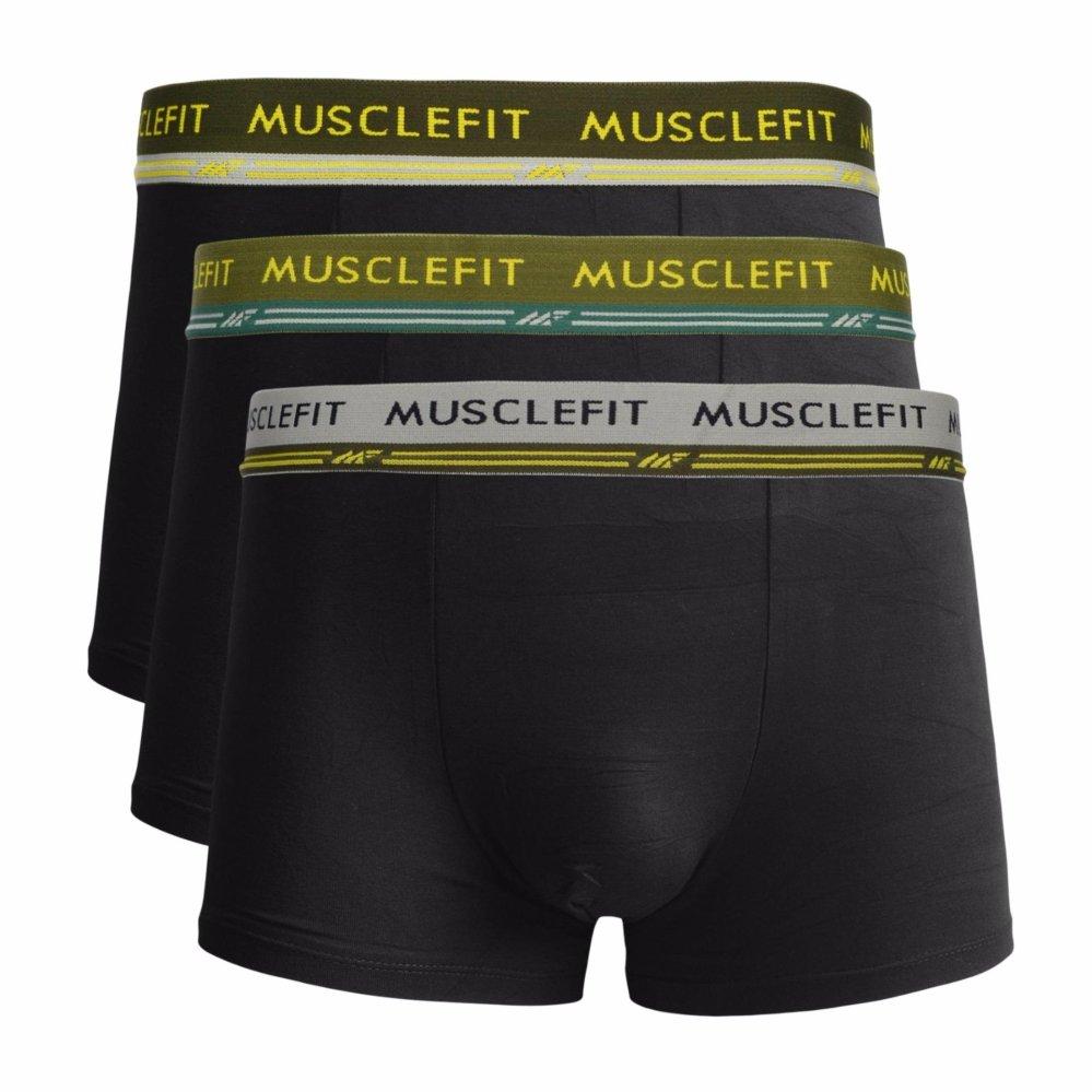 Murah Celana Dalam Pria Gtman Cd Gt Man Pakaian Muscle Fit Mfbx 109 Boxer 3 Buah Multicolor