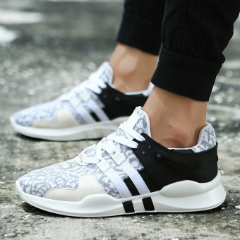 Harga Musim gugur baru bernapas jala sepatu sepatu pria (Hitam dan putih  bagian umum) 3940714308