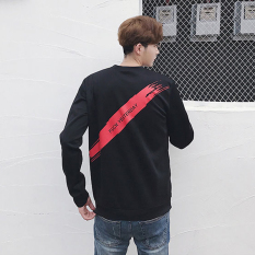 Musim gugur baru siswa pada pria sweater versi Korea dari leher bulat lengan panjang t-