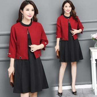 eShop Checker Musim Gugur Dan Musim Dingin Korea Fashion Style Lengan Panjang  Rok Dalaman Baru Gaun 16297d29c9