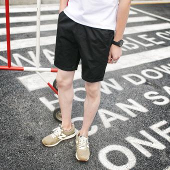 Musim panas model tipis beberapa celana pendek kasual (Hitam)