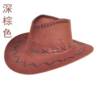Musim panas pria matahari orangtua-anak topi topi koboi (PARK'S yang mendalam warna)