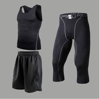 Jual Musim semi dan musim panas anak-anak stoking untuk pria dan wanita pelatihan pakaian (1001 + celana hitam tiga potong) Terpercaya