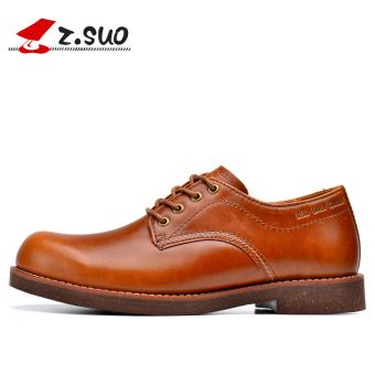 Musim Semi Kulit Bisnis Sepatu Santai Sepatu Pria (Model Pria + Kuning Brown)